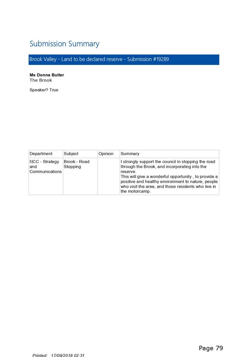 Agenda Of Brook Reserve Hearings Panel