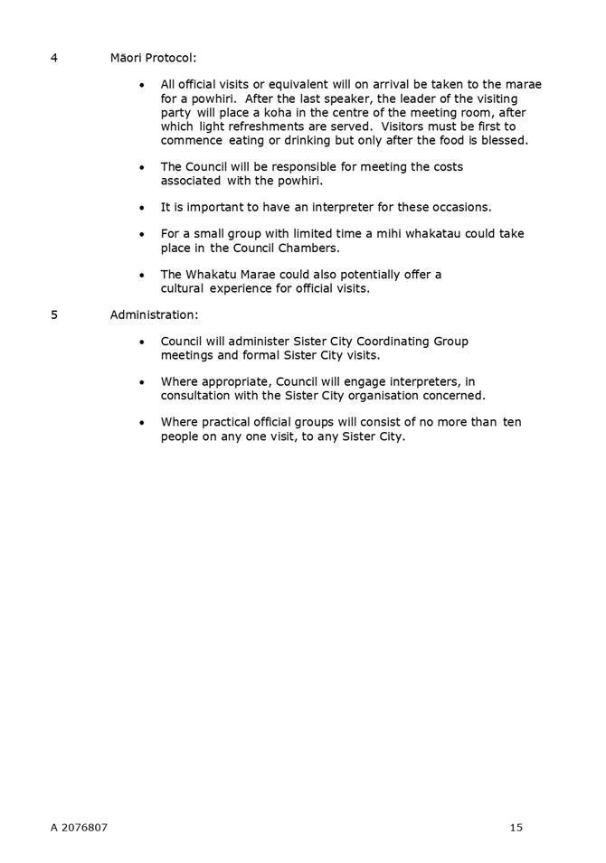 Agenda of Governance Committee - 18 April 2019